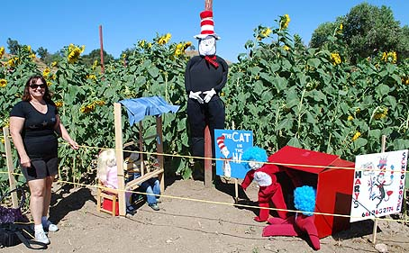cat in the hat scarecrows