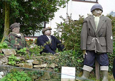 Last of Summer Wine scarecrows