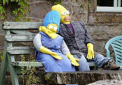The Simpsons scarecrows