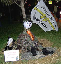 soldier scarecrow