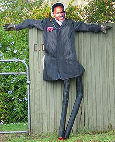 Famous celebrity actor scarecrow